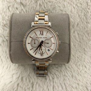 Michael Kors Rose Gold/Silver Women's Watch